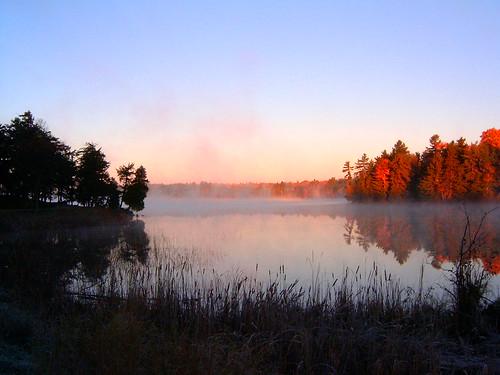 autumn fall sunrise silverlake provincialpark