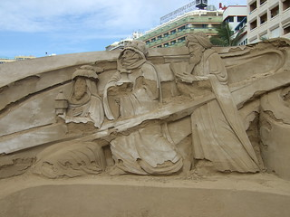Sand sculptures in Las Palmas | by Haxxah and KraZug