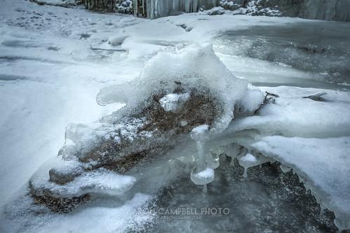 winter snow ice nature water stream pennsylvania january textures slowshutter 10th friday preserve hdr nepa wyomingcounty 2014 bardwell edr clintontownship tunkhannockcreek countrysideconservancy littlerockyglen