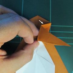 วิธีการพับกระดาษเป็นรูปกบ (แบบโคลัมเบี้ยน) (Origami Frog) 027