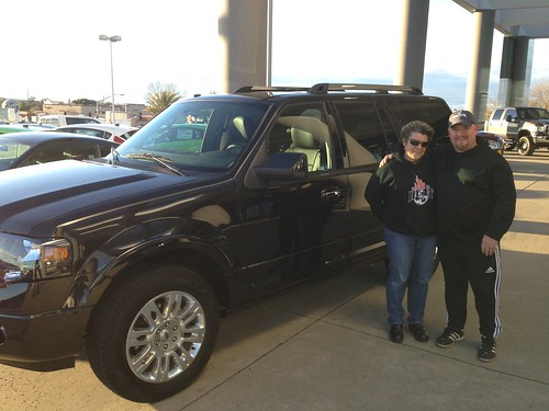 Denise and Ross Buchholz of Rocklin, CA and their 2014 Ford Expedition from Justin Sutterfield. Thank you two so much! Photo