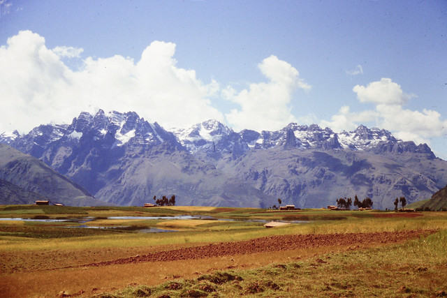 Landscape in the heights of the Vilcanota valley, province of Urubamba, Cusco,  Peru, 1989