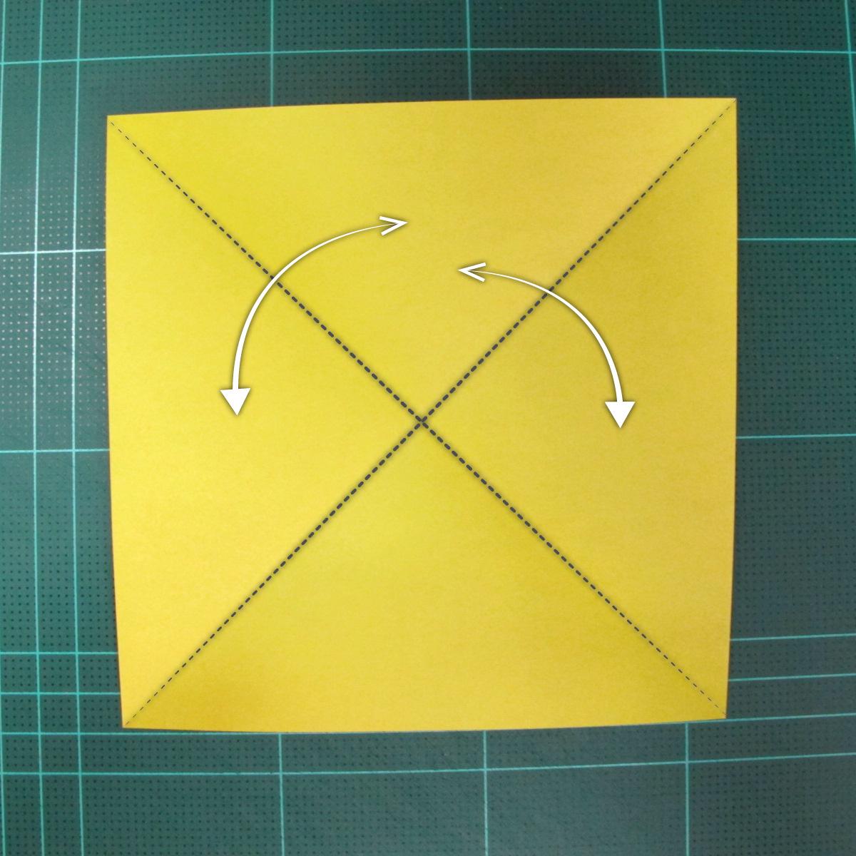 วิธีพับกระดาษเป็นรูปนกยูง (Origami Peacock - ピーコックの折り紙) 001