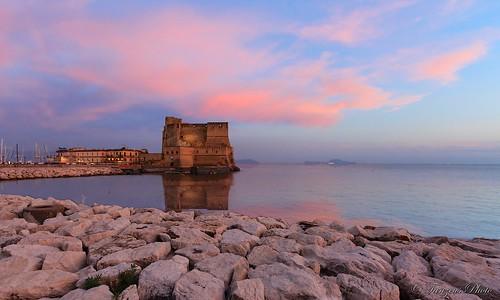 sunset italy italia tramonto napoli naples pinksunset casteldellovo mygearandme tanzeus tanzeusphoto gaetanocastaldo inspiringcreativeminds
