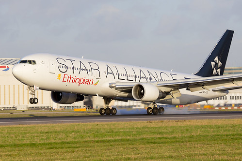 ET-ALO Ethiopian Boeing 767 Star Alliance LHR | by iesphotography