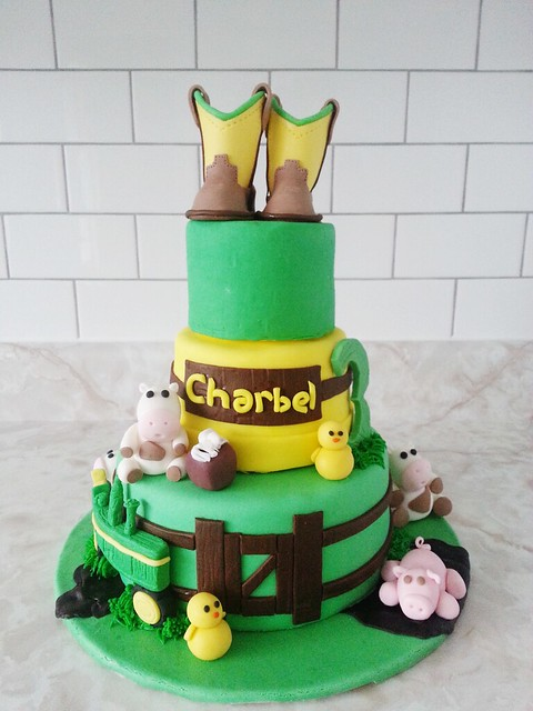 country themed cake, by roula www.sweetlovedesserts.com in
