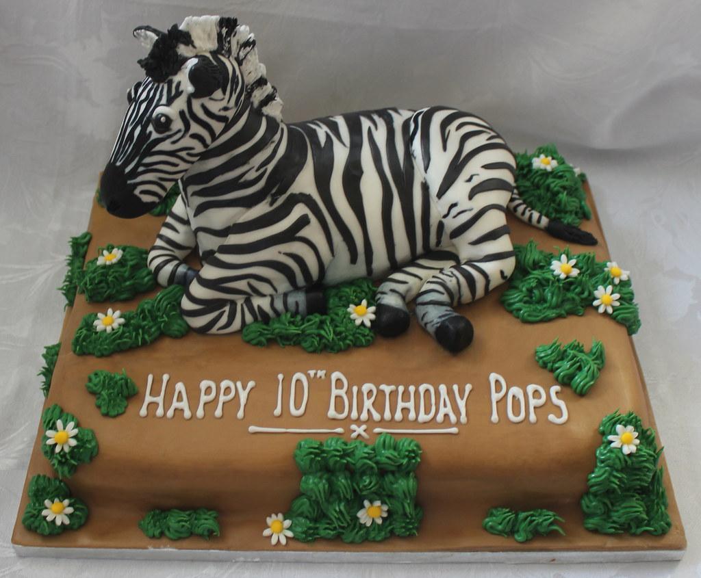 Excellent Zebra Birthday Cake Pauls Creative Cakes Flickr Funny Birthday Cards Online Alyptdamsfinfo