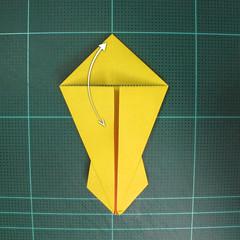 วิธีพับกระดาษเป็นรูปนกยูง (Origami Peacock - ピーコックの折り紙) 017