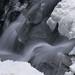 Winter at Boulder Falls - close up.