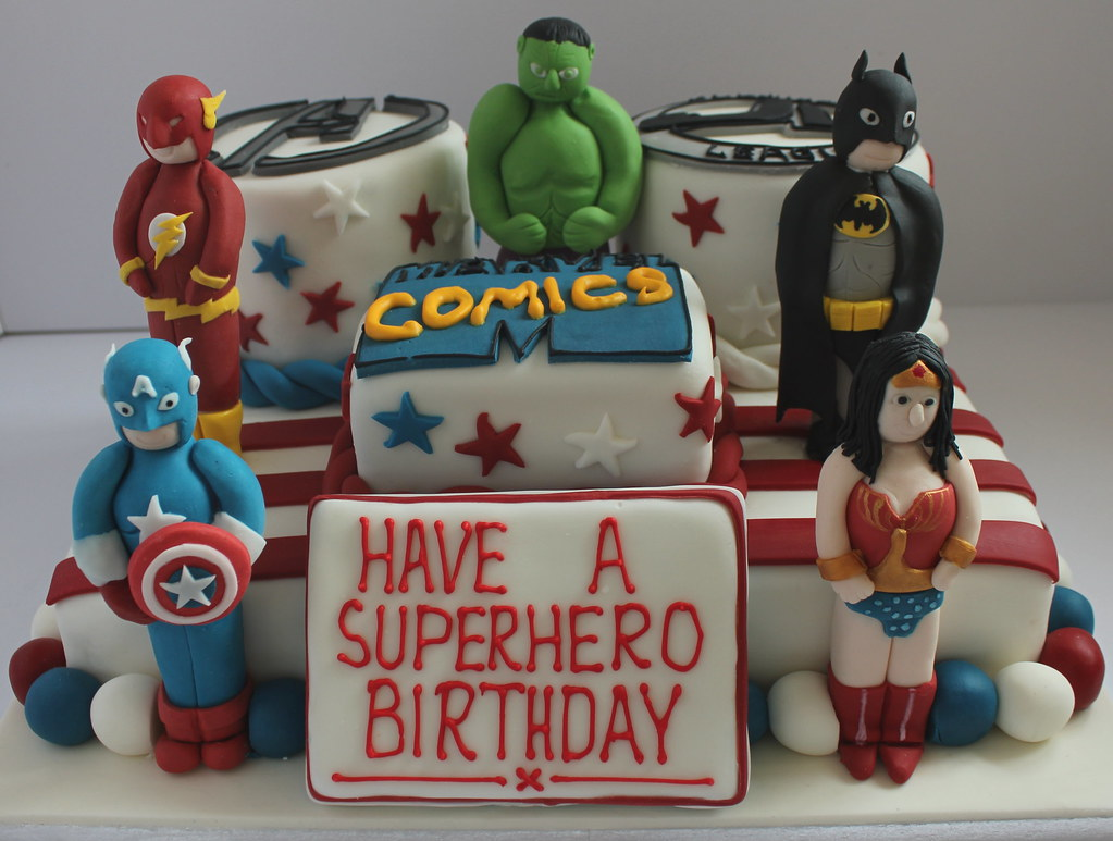Brilliant Marvel Comic Superhero Birthday Cake Pauls Creative Cakes Birthday Cards Printable Riciscafe Filternl