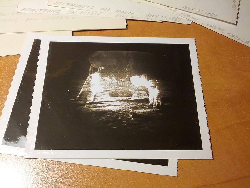 First Moon Landing Photos