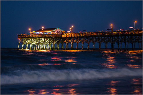 city beach night garden pier nikon long exposure time south carolina nikkor 1755mm d7000
