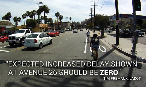 Rendering of LADOT proposed N. Figueroa bike lane looking south towards Avenue 22 and the 5 Freeway from just past the Avenue 26 intersection   by ubrayj02