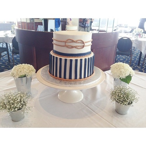 Nautical themed bridal shower cake. Thx to my sister @chellebizzy for helping me with this beauty! | by Sedona Bakery