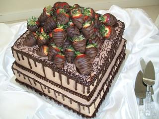 Chocolate Covered Strawberries Cake | by Clotee Pridgen Allochuku