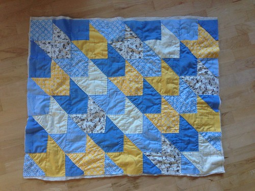 baby quilt - basted | by svacher