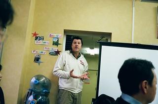 Patrick Newell at TEDxTokyo 2010 volunteer meeting