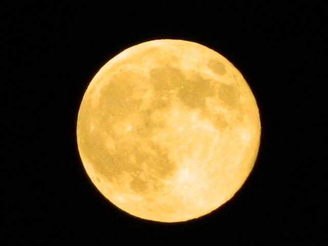 The bright Supermoon  August 10, 2014
