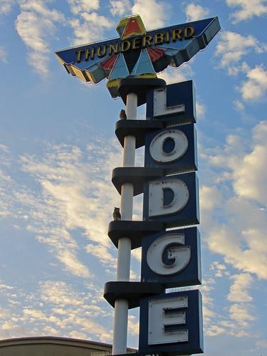 california usa sign sunrise chico thunderbirdlodge