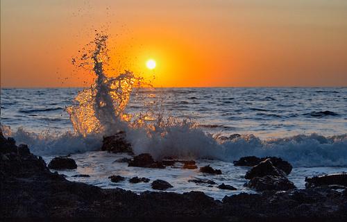 crete kriti greece sunset landscape limeniskos