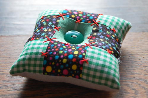 patchwork pincushion #5 | by Studio Paars