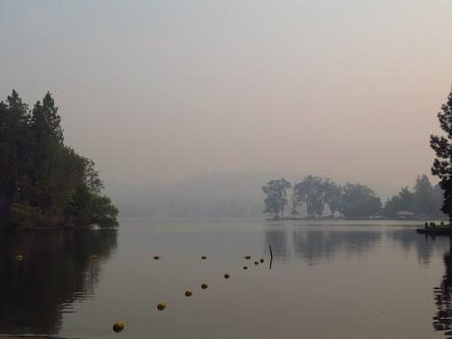 lakewildwood smoke haze lake mist cool