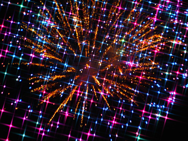 Firework with Explosive Sparks--Amazing with Olympus Art Filters