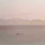 064 - Day 5 Ayeyarwady River -  A serene view of Ava Bridge.