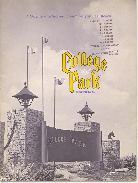 Seal Beach College Park East brochure cover