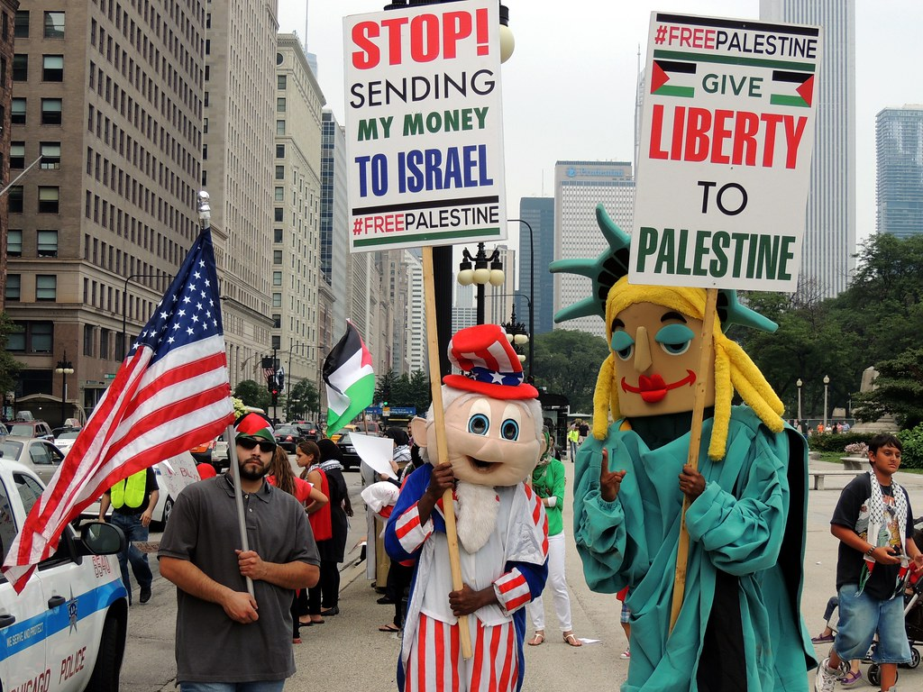 'Chicago Coalition for Justice in Palestine' Rally/March
