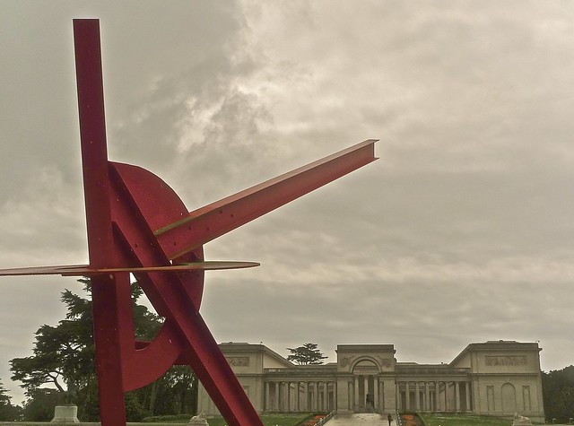 Pax Jerusalem by Mark di Suvero w/ Palace of Legion of Honor in background  (Explore) - Detail Studies in Color & in Black & White follow.  (1) (Please view photos FULL-Screen ...)