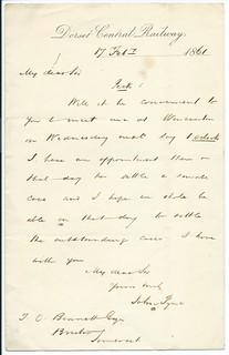 Dorset Central Railway letterhead 1861 | by ian.dinmore
