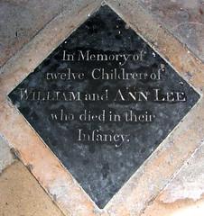 in memory of twelve children who died in their infancy