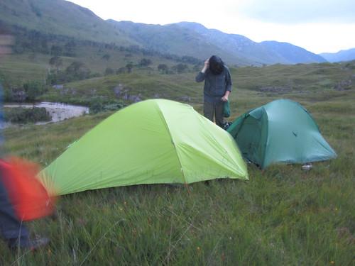 Breaking camp in Cona Glen,  midges in millions | by Guy R