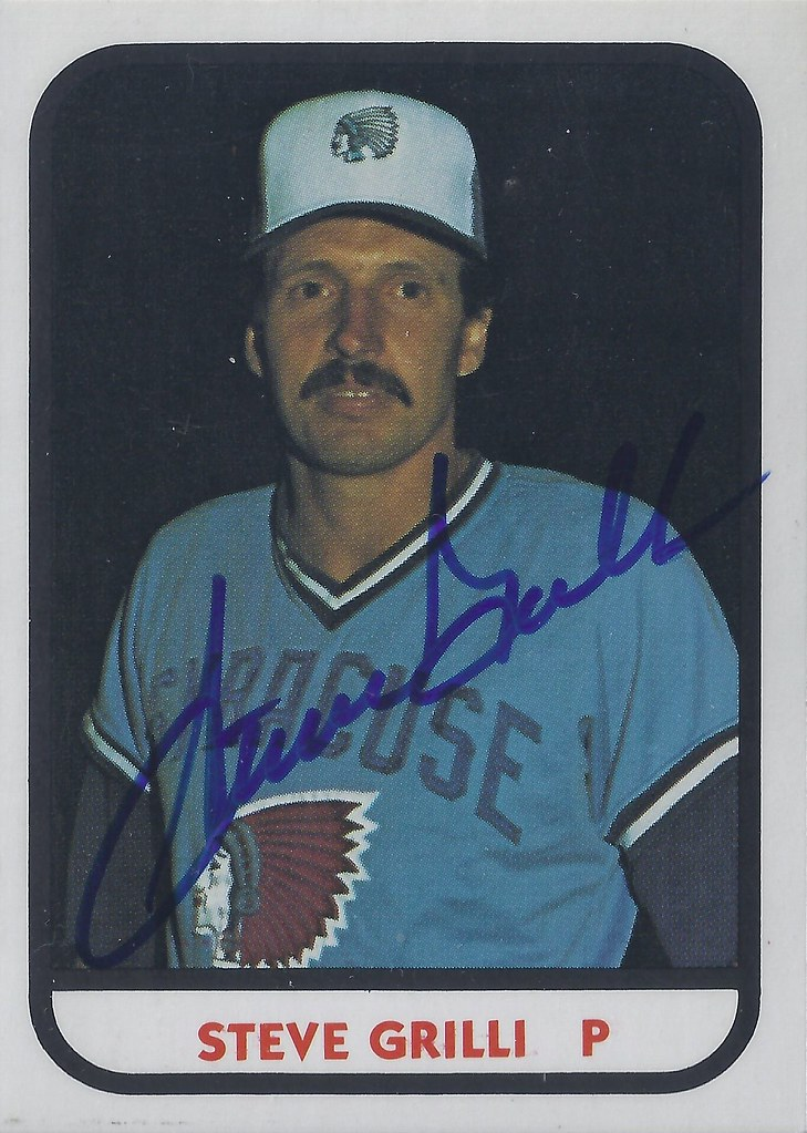 1981 Tcma Steve Grilli 4 793 Pitcher Autographed B Flickr