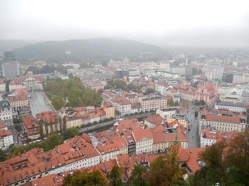 Ljubjana - vanaf het kasteel