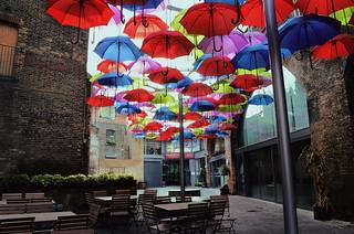 Borough market umbrellas yard, London | by revolution540