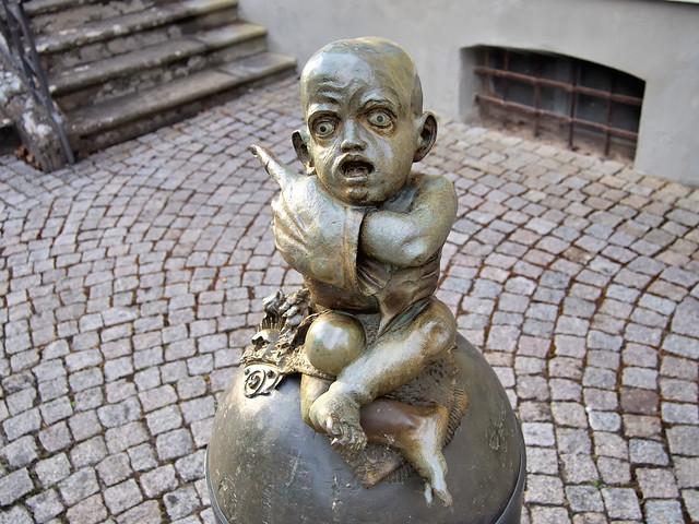 Modernist-fantastic public art, Juergen Goertz - Heckerplatz, Angelbachtal, Baden-Württemberg, Germany