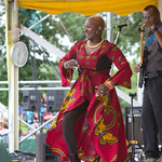 Sat, 20/06/2015 - 2:54pm - The fabulous Angelique Kidjo on the main stage Saturday afternoon, 6/20/15. Photo by Gus Philippas