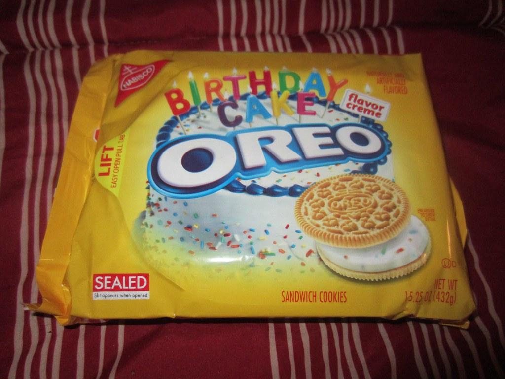 Sensational Golden Birthday Cake Oreos Yummy Like The Grand Canyon Flickr Personalised Birthday Cards Veneteletsinfo