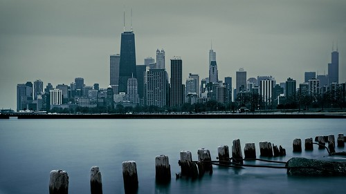 longexposure chicago water skyline clouds grey cityscape il fullerton citychicago lakemi bigstopper olympusomdem1