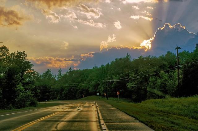 Backlit Storm Clouds