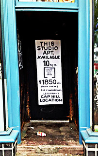 On Seattle's Capitol Hill:  Apartment for Rent Advert as Guerilla Art Installation