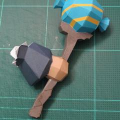 วิธีทำโมเดลกระดาษของเล่นคุกกี้รัน คุกกี้รสพ่อมด (Cookie Run Wizard Cookie Papercraft Model) 031