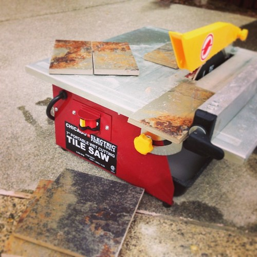 Tile saw! I love being so close to #harborfreight | by bradisdrab