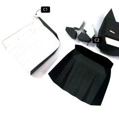 วิธีทำโมเดลกระดาษแบทแมน (Batman Papercraft Model) 021