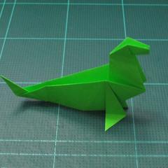 การพับกระดาษเป็นรูปแมวน้ำ (Origami Seal) 012