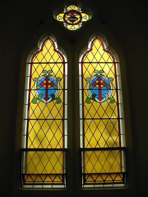A Stained Glass Window in the Chapel of the Former Parade College - Victoria Parade, East Melbourne