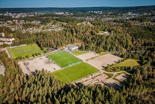 sverige swe västragötaland borås flygfoto idrottsplats trandared gånghester