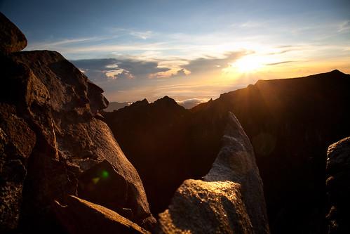 nature sunrise mountkinabalu